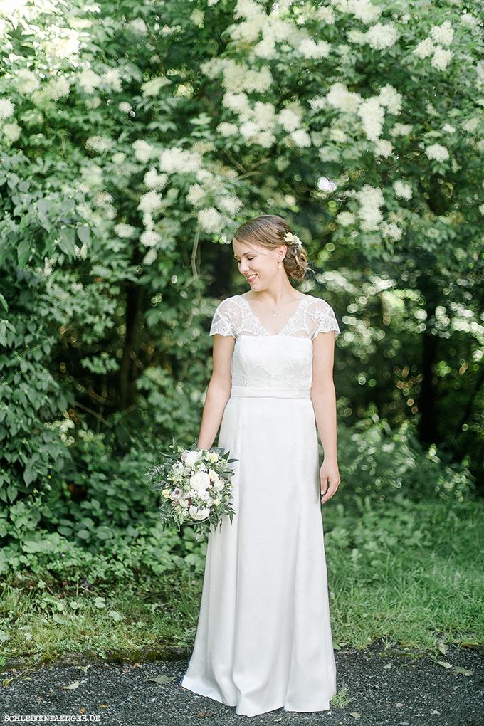 Brautkleid Seide Spitze