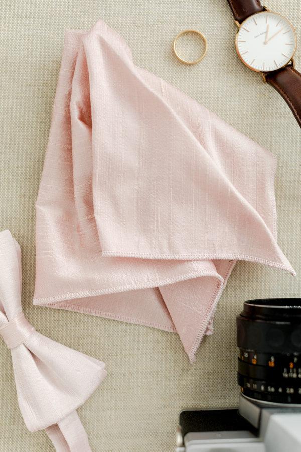 Einstecktuch aus Seide in rosé