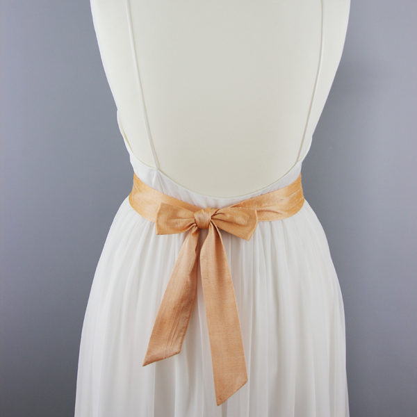 Braut-Gürtel aus Seide apricot