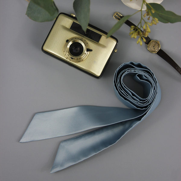 Braut-Gürtel aus Satin taubenblau