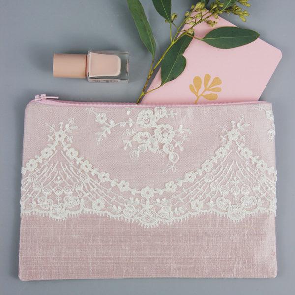 Braut-Tasche Hochzeit rosé
