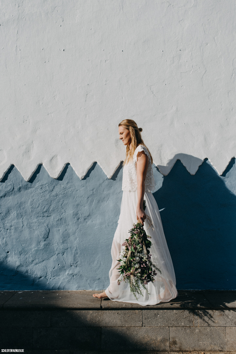 lässiger Boho-Zweiteiler für die Hochzeit