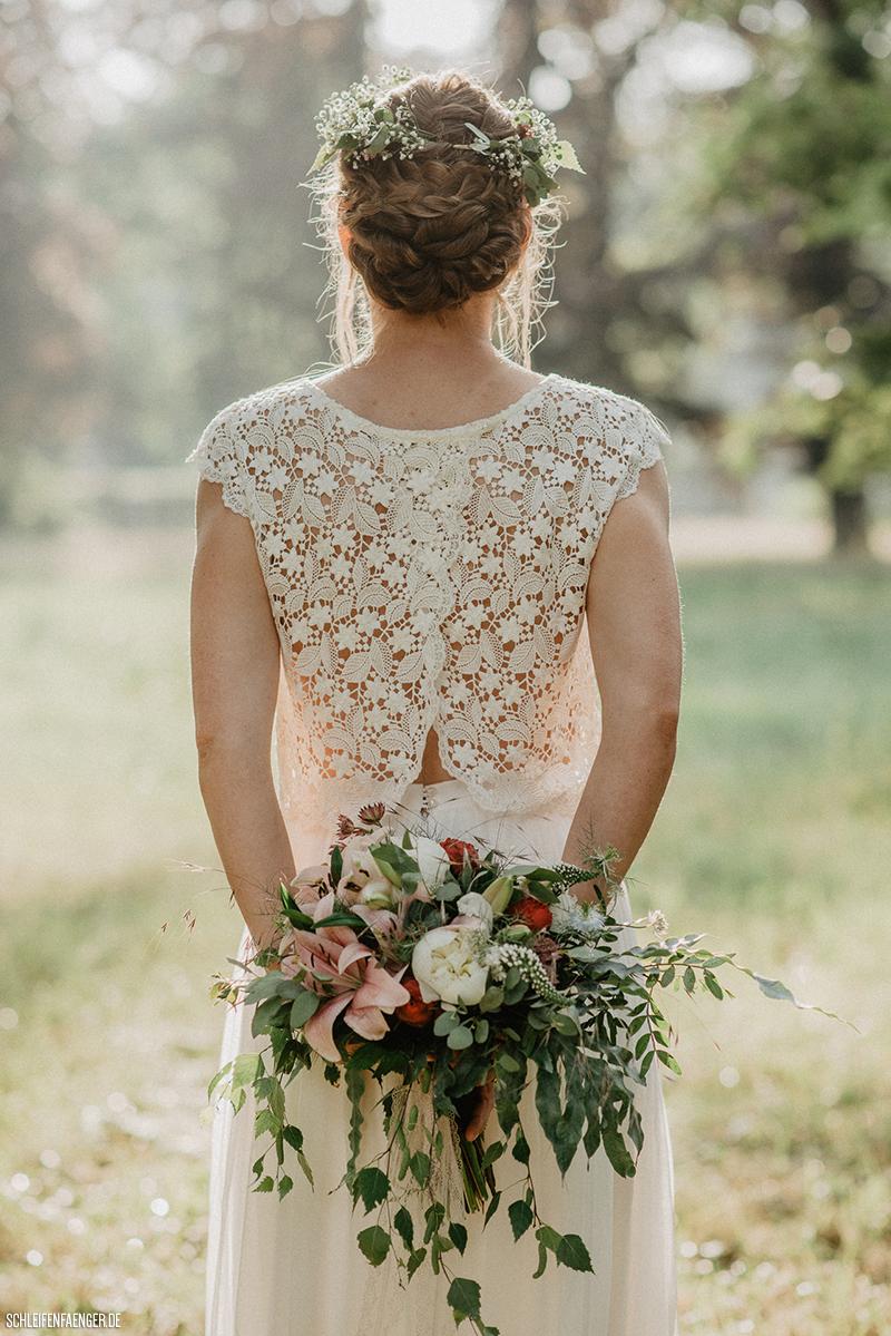 zweiteiliges Brautkleid mit Tüllrock