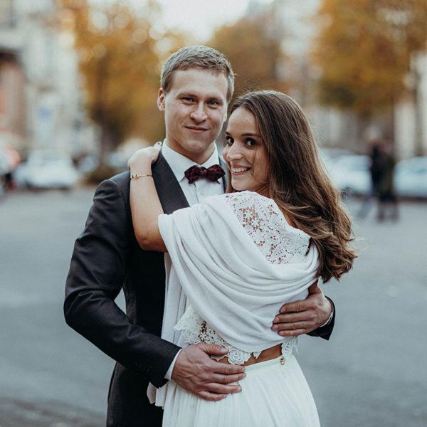 Braut-Stola aus reinem Kaschmir in Creme