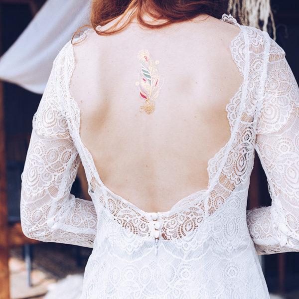 langes Mermaid-Kleid Elsa