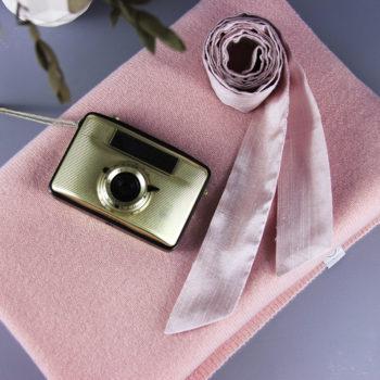 Braut-Stola aus reinem Kaschmir in Rosé