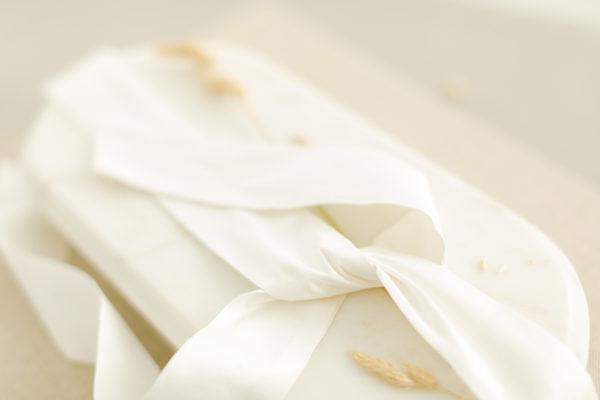 Braut-Gürtel aus Seide in Creme