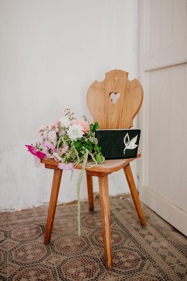 Braut-Tasche mit goldenen Blättern