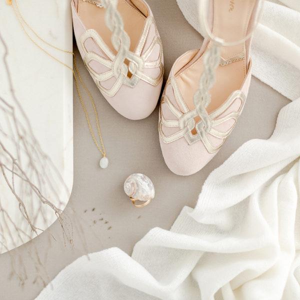 Braut-Schuhe Rosita in Rosa
