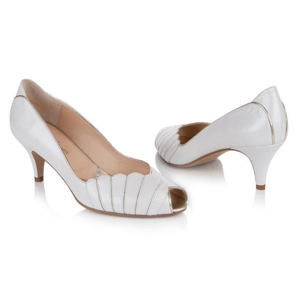 Braut-Schuhe Ada in Ivory und Gold