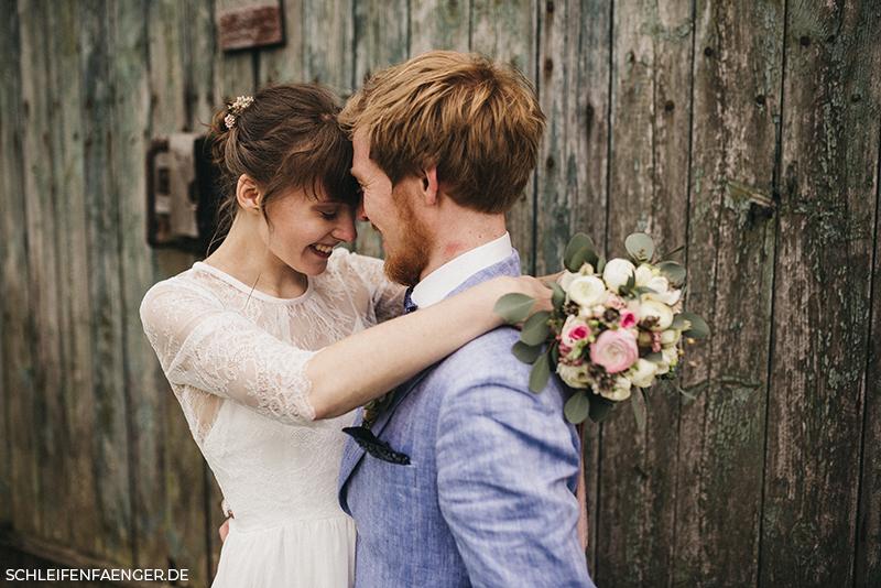 Vintage-Brautkleid mit Spitze