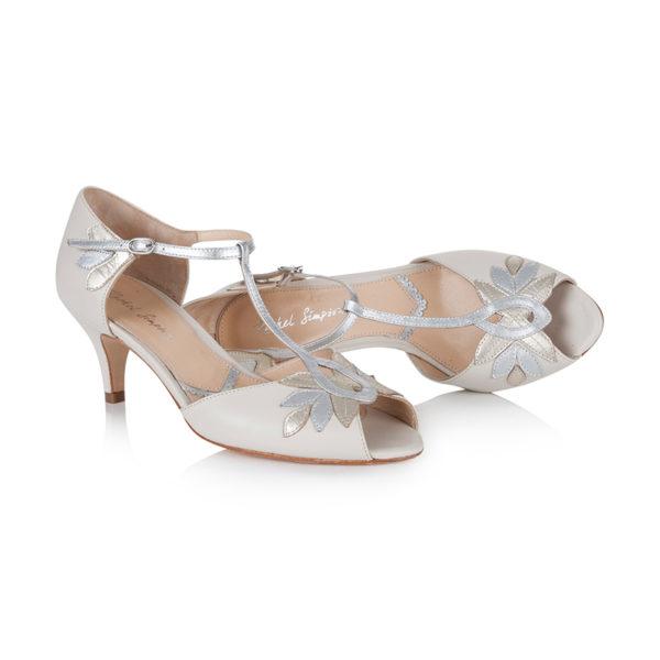 Braut-Schuhe Isla in Ivory und Gold