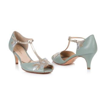 Braut-Schuhe Isla in Mint und Gold