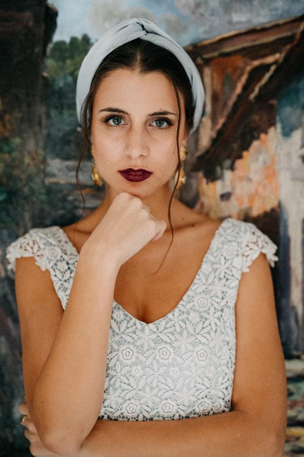 Brautkleid Alma in taubenblau