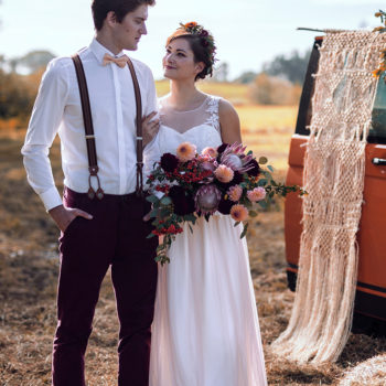 Brautkleid Frieda mit Tüllrock in apricot
