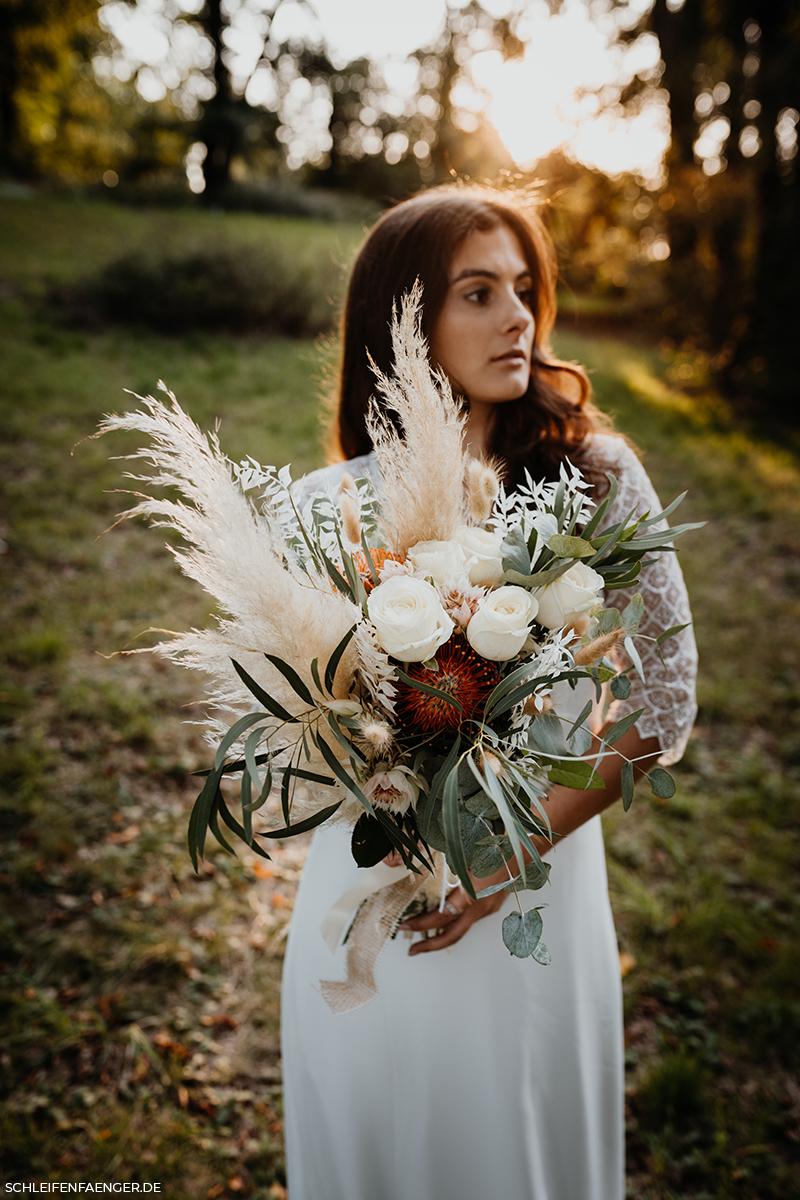 Boho-Brautstrauß