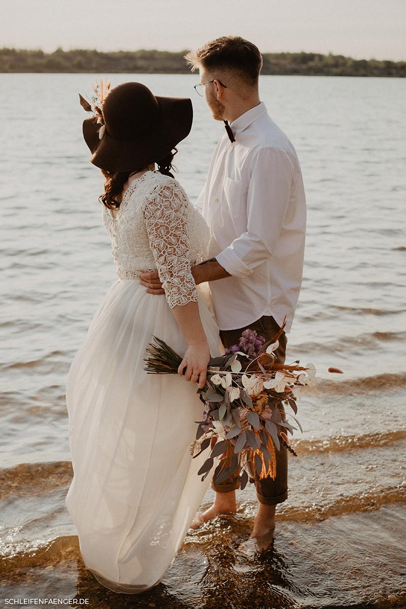 Hochzeit am See in Leipzig