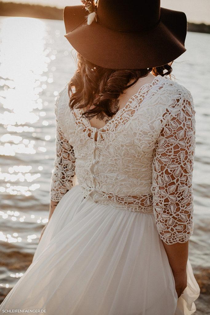 nachhaltiges Brautkleid im Boho-Stil