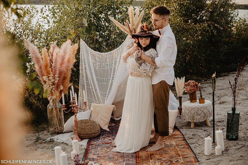 zweiteiliges Brautkleid im Boho-Stil